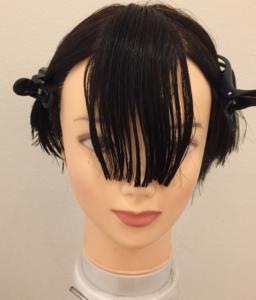 前髪セルフカットの参考画像