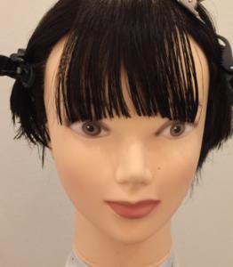 前髪セルフカット参考画像